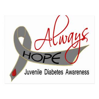 Siempre diabetes juvenil de la esperanza tarjetas postales