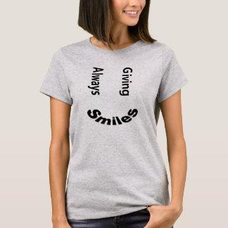 Siempre donante de la camisa de la tipografía de