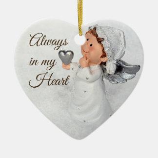 Siempre en mi ornamento del corazón