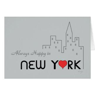 Siempre feliz en Nueva York Tarjeta De Felicitación