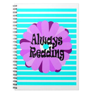 Siempre lectura del cuaderno