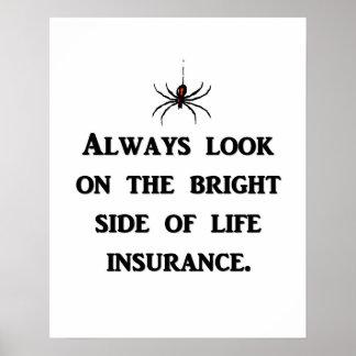siempre-mirada-en--brillante-lado-de-vida-seguro póster