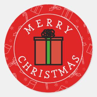 Siempre regalo de Navidad Pegatina Redonda
