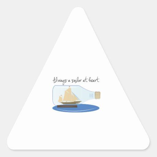 Siempre un marinero en el corazón calcomania de triangulo personalizadas