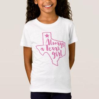 Siempre una camiseta del rosa del chica de Tejas