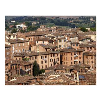 Siena admitido fotografía, Italia. Uno puede ver Postal