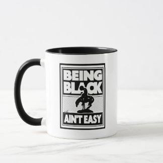 """SIENDO aún taza de café FÁCIL NEGRA de A'INT"" -"