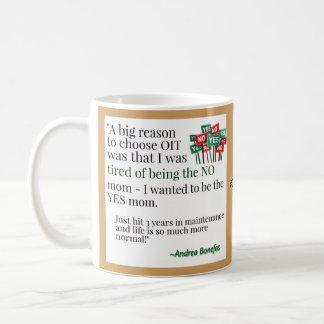 Siendo la mamá del sí y el lujo de un error taza de café