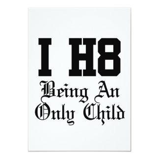 siendo un hijo único invitación 12,7 x 17,8 cm