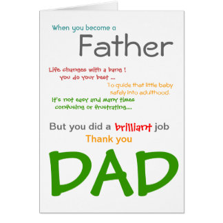 Siendo una tarjeta del día de padre del PAPÁ