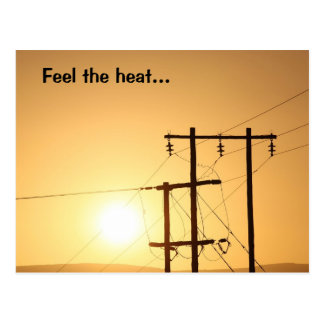 Sienta el calor de una salida del sol africana postal