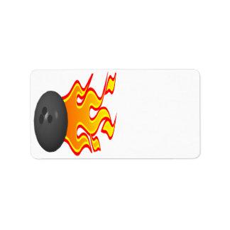 Sienta el calor etiqueta de dirección