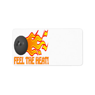 Sienta el calor etiquetas de dirección