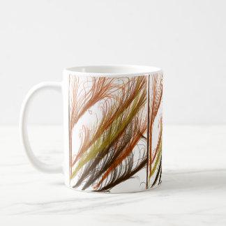 Sienta la caída taza de café