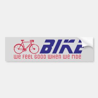 siéntase bien cuando montamos/bici/el biking pegatina para coche