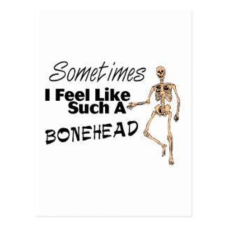 Siento a veces como tal Bonehead Postales