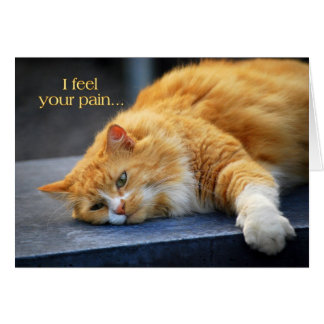 Siento su dolor -- Gato pronto anaranjado del Ronr Felicitaciones