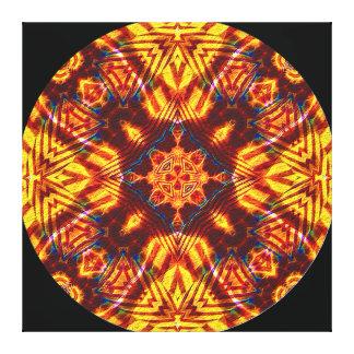 Sierra Del Condor Mandala Impresión En Lona Estirada