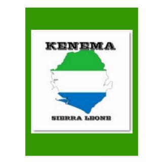 Sierra Leone, postal del mapa (Kenema)