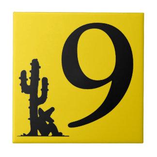 Siesta por la teja caliente nueve del número 9 del