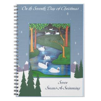 Siete cisnes cuaderno