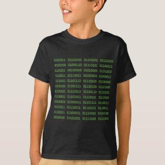 Siete códigos binarios sucios camiseta