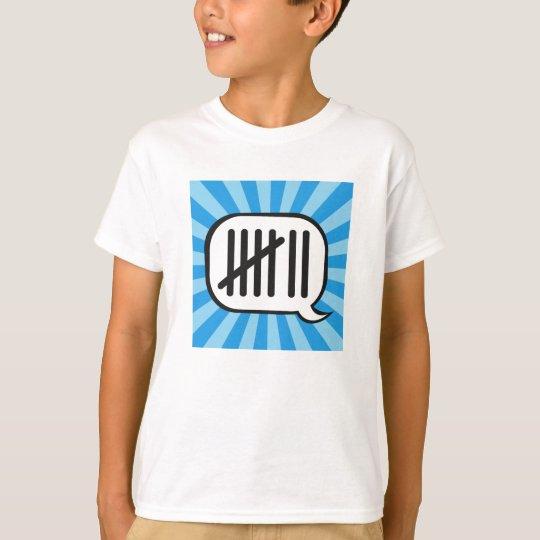 Siete niños T de las palabras Camiseta