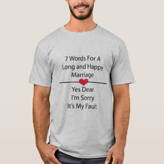 Siete palabras para una boda larga y feliz camiseta