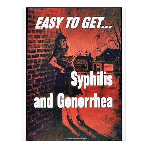 Sífilis y gonorrea tarjeton