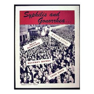 Sífilis y gonorrea folleto 21,6 x 28 cm