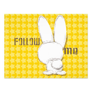 siga el conejo blanco anuncios