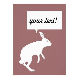 siga el conejo blanco invitacion personalizada