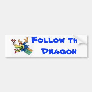 Siga el dragón pegatina para coche