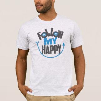 Siga mi camiseta feliz