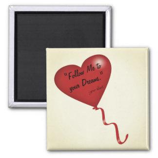 Siga su imán inspirado del corazón