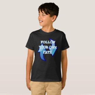 Siga su propia camiseta de la trayectoria