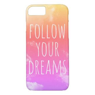 Siga sus sueños que inspiran el caso del iPhone 7 Funda iPhone 7