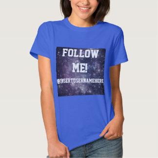 Sígame personalizó la galaxia camisas