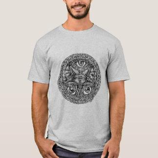 sigel del Pentagram del baphomet Camiseta