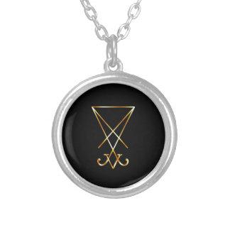Sigil del símbolo de Lucifer- A del satanism Colgante Redondo