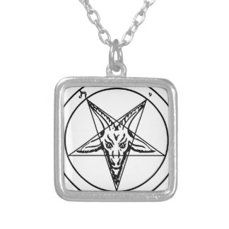 Sigil_of_Baphomet Collar Plateado
