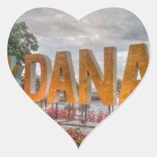 Siglakdanao en ciudad del danao pegatina en forma de corazón