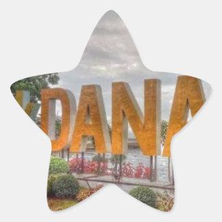 Siglakdanao en ciudad del danao pegatina en forma de estrella