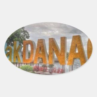 Siglakdanao en ciudad del danao pegatina ovalada