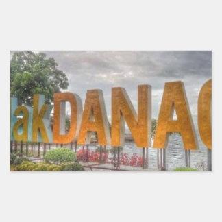 Siglakdanao en ciudad del danao pegatina rectangular