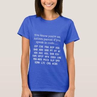 Siglas divertidas del padre del autismo camiseta
