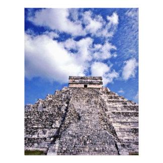Siglo del EL Castillo-11th maya/ruinas de Toltec Tarjeton