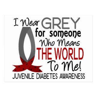 Significa el mundo a mí diabetes juvenil tarjeta postal