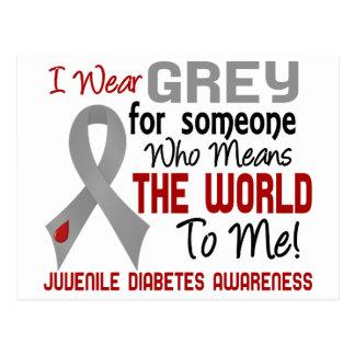 Significa el mundo a mí la diabetes juvenil 2 postal