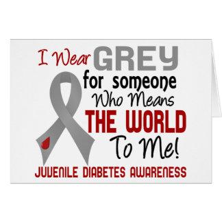 Significa el mundo a mí la diabetes juvenil 2 tarjeta de felicitación